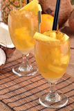 Pineapple cocktail. Royalty Free Stock Photography