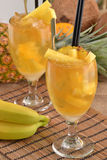 Pineapple cocktail. Royalty Free Stock Photo