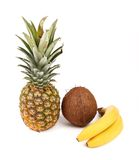 Pineapple, coconut and Banana Stock Photography
