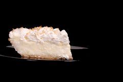 Pineapple coconut cream pie with toasted coconut Royalty Free Stock Photo