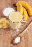 Pineapple coconut smoothie Stock Photos