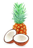 Pineapple and coconut Royalty Free Stock Photos