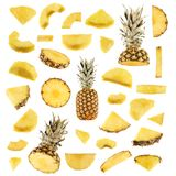 Pineapple collection Royalty Free Stock Images