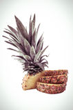 Pineapple color toned Royalty Free Stock Photos