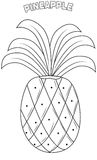 Pineapple coloring page Royalty Free Stock Images