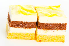 Pineapple - cream - cakes Stock Photos