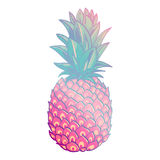 Pineapple creative trendy art poster. Royalty Free Stock Images