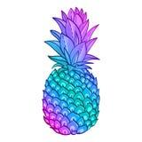 Pineapple creative trendy art poster. Stock Photo