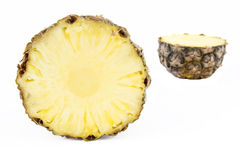 Pineapple cross section Royalty Free Stock Photos