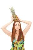 Pineapple crown Stock Photos