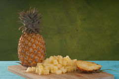 Pineapple cubes Royalty Free Stock Image