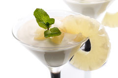 Pineapple curd dessert Stock Images