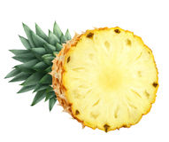 Pineapple cut half isolated on white background Stock Images