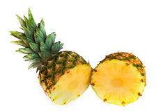 Pineapple cut in half Stock Photography