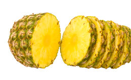 Pineapple cut into slices Royalty Free Stock Photos
