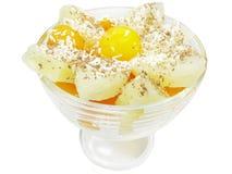Pineapple dessert with papaya Stock Photography