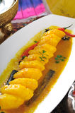 Pineapple  dish. Pineapple in Turmeric and Chili,Pineapple dishes,thai food, thai cuisine Stock Photography