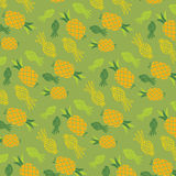 Pineapple doodle pattern Royalty Free Stock Photo