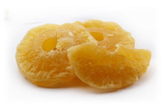 Pineapple Dried fruit. Pineapple Dried fruit  on white background Stock Photography