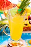 Pineapple drink. In glass for summer party Royalty Free Stock Photo