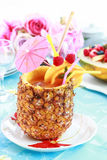Pineapple drink Stock Images