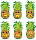 Pineapple face Stock Photo
