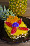 Pineapple and fig Royalty Free Stock Image