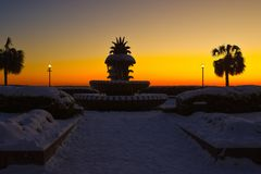 Free Pineapple Fountain At Waterfront Park, Charleston, SC. Royalty Free Stock Photo - 107571575