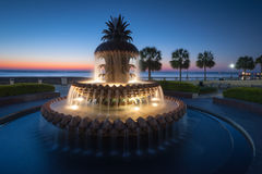 Charleston, SC Pineapple Fountain Downtown Waterfront Park Stock Photo