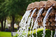 Pineapple fountain in Charleston South Carolina Stock Photos