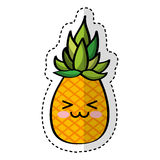 Pineapple fresh fruit comic character Royalty Free Stock Photos