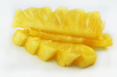 Pineapple. Fresh pineapple fruits yellow white Stock Images