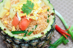 Pineapple fried rice Stock Photos