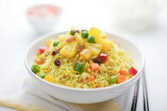 Pineapple Fried Rice. On a bowl Royalty Free Stock Photos