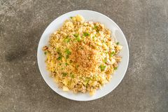 Pineapple fried rice. With dried shredded pork royalty free stock photos
