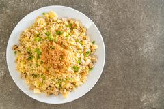 Pineapple fried rice. With dried shredded pork royalty free stock photo
