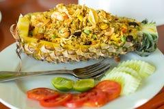 Pineapple Fried Rice. At Villa cha-cha, Phagan Islands royalty free stock photo