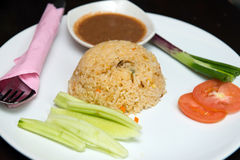 Pineapple fried rice. Thai style pineapple fried rice served on plate stock photography