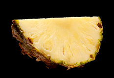 Pineapple fruit on black Stock Image