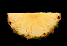 Pineapple fruit on black Stock Photo