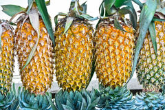 Pineapple Fruit Display For Sell On Small Street In Malwana Stock Photos