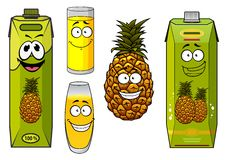Pineapple fruit and juices Royalty Free Stock Images