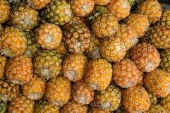 Pineapple Fruit. In rural market, Thailand Stock Photos