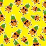 Pineapple fruit,seamlees pattern.modern design - Vector-01 stock illustration