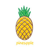 Pineapple fruit, sketch design Royalty Free Stock Photography