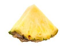 Pineapple fruit slice. Pineapple fruit closeup isolated on white Stock Photo
