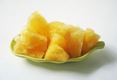 Pineapple fruit texture and white background Stock Photography