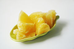 Pineapple fruit texture and white background Stock Photo