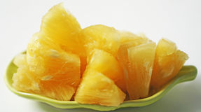 Pineapple fruit texture and white background Royalty Free Stock Photos