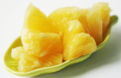 Pineapple fruit texture and white background Royalty Free Stock Images